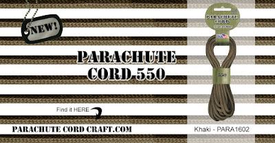 Khaki Parachute Cord 550 from ParachuteCordCraft.com