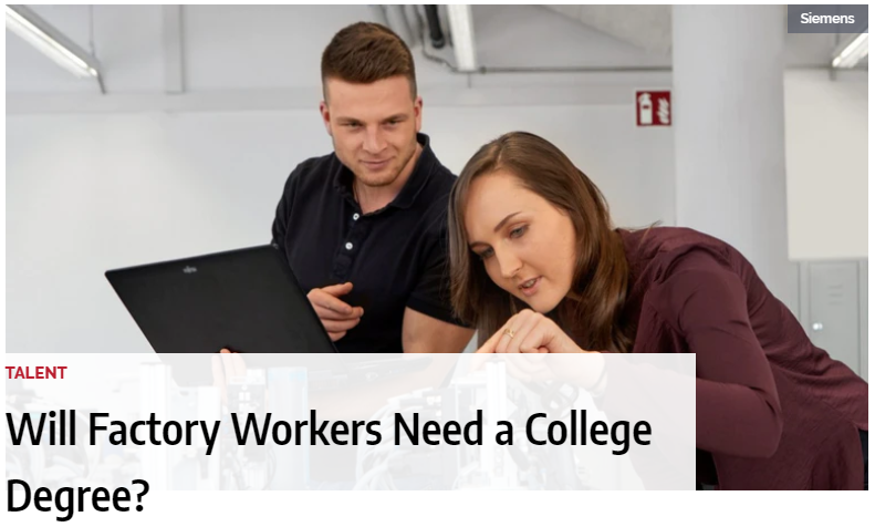 Industry Week's: Will Factory Workers Need a College Degree?