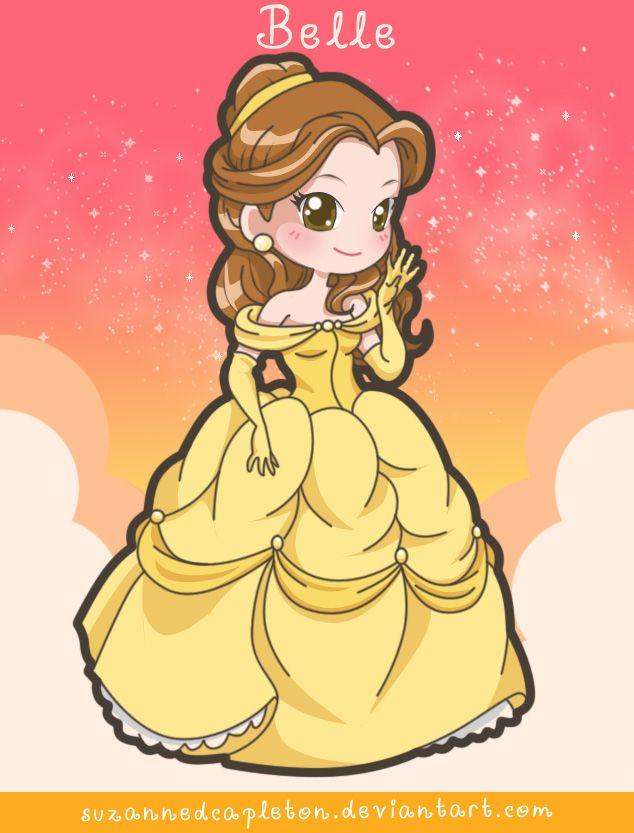 princess belle chibi công chúa người đẹp và quái vật 4