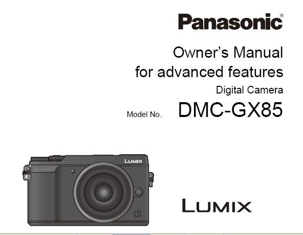 Panasonic Lumix DMC-GX80 Manual