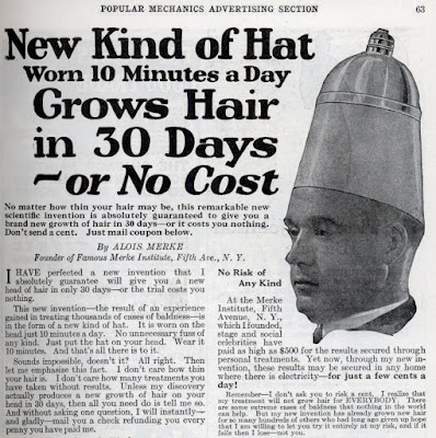 New Kind of Hat Grows Hair