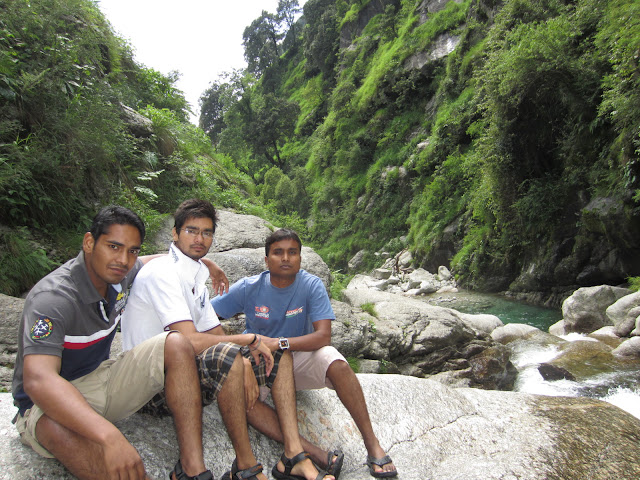 near himalyan waterfall