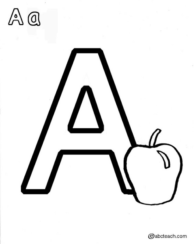 Coloring Pages For The Letter A ~ Top Coloring Pages
