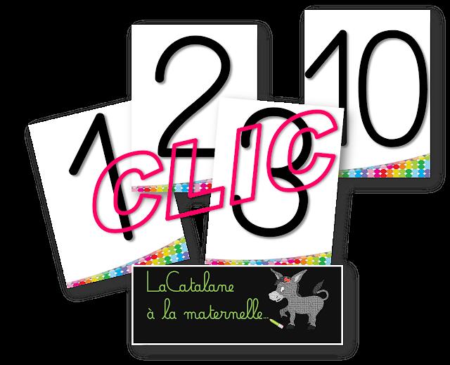 Etiquettes nombres 0-10 (LaCatalane)