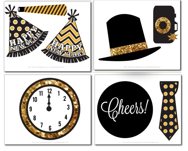 New Year´s Eve: Free Printable Photo Booth Props.