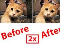 Cara Memperbesar Resolusi Gambar 2X Lipat Tanpa Pecah