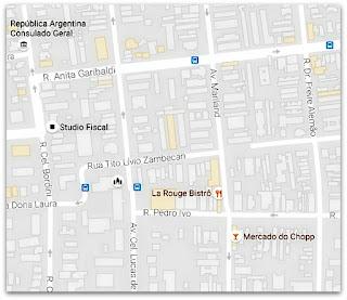 Mapa com a Localização da Escadaria da Rua Tito Lívio Zambecari até a Avenida Maryland, Porto Alegre (Mapa)