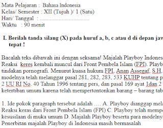 Soal-Ulangan-Ujian-Bahasa-Indonesia-kelas-12-Semester-1-UAS-Bahasa-Indonesia-kelas-12-SMA