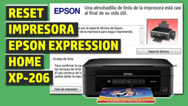 Reset impresora EPSON Expression Home XP-206