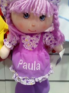 muñeca con el nombre