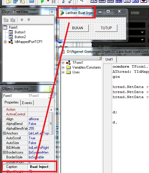 Cara Membuat Inject Dengan Visual Basic VB