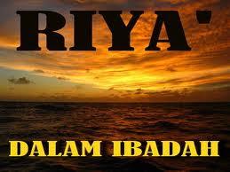 Jauhi Sifat Riya'