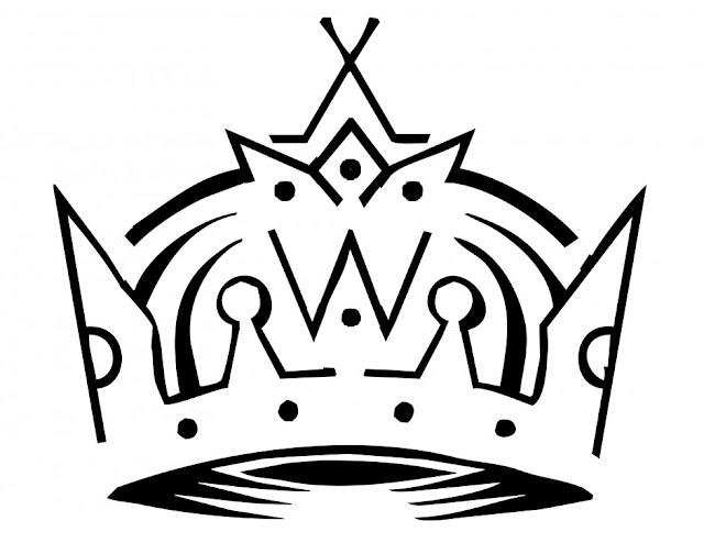 colorear corona reyes