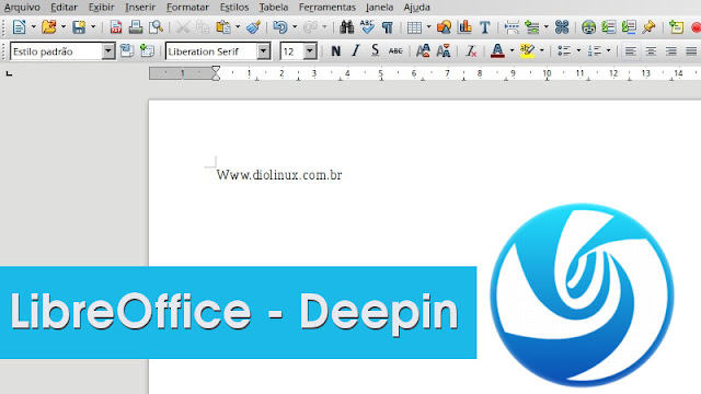 Aparência do LibreOffice no Deepin