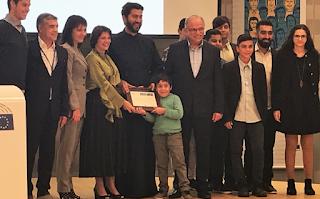 Παρέλαβε το βραβείο του καλύτερου Ευρωπαίου Πολίτη ο πάτερ Αντώνιος