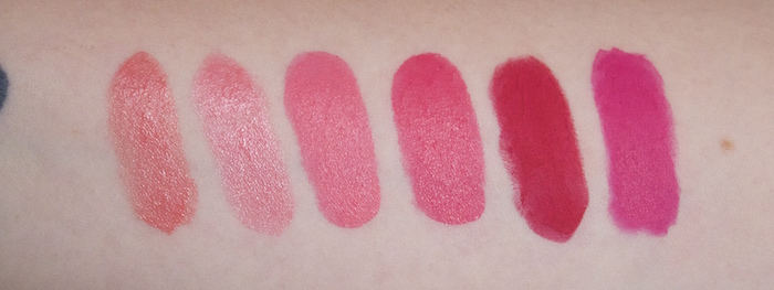 MAC Lipstick Collection Coral Bliss, Sunny Seoul, Viva Glam Nicki, Impassioned, RiRi Woo, No Faux Pas