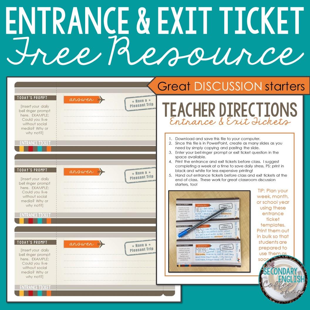 Exit Ticket Template Teachers