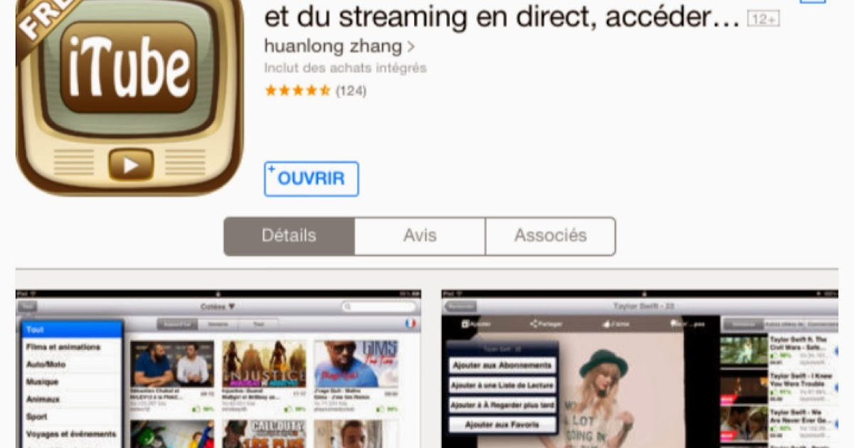 installer youtube pour mobile