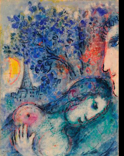 Los Amantes en las artes plásticas