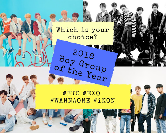 2018 kpop boy group of the year award