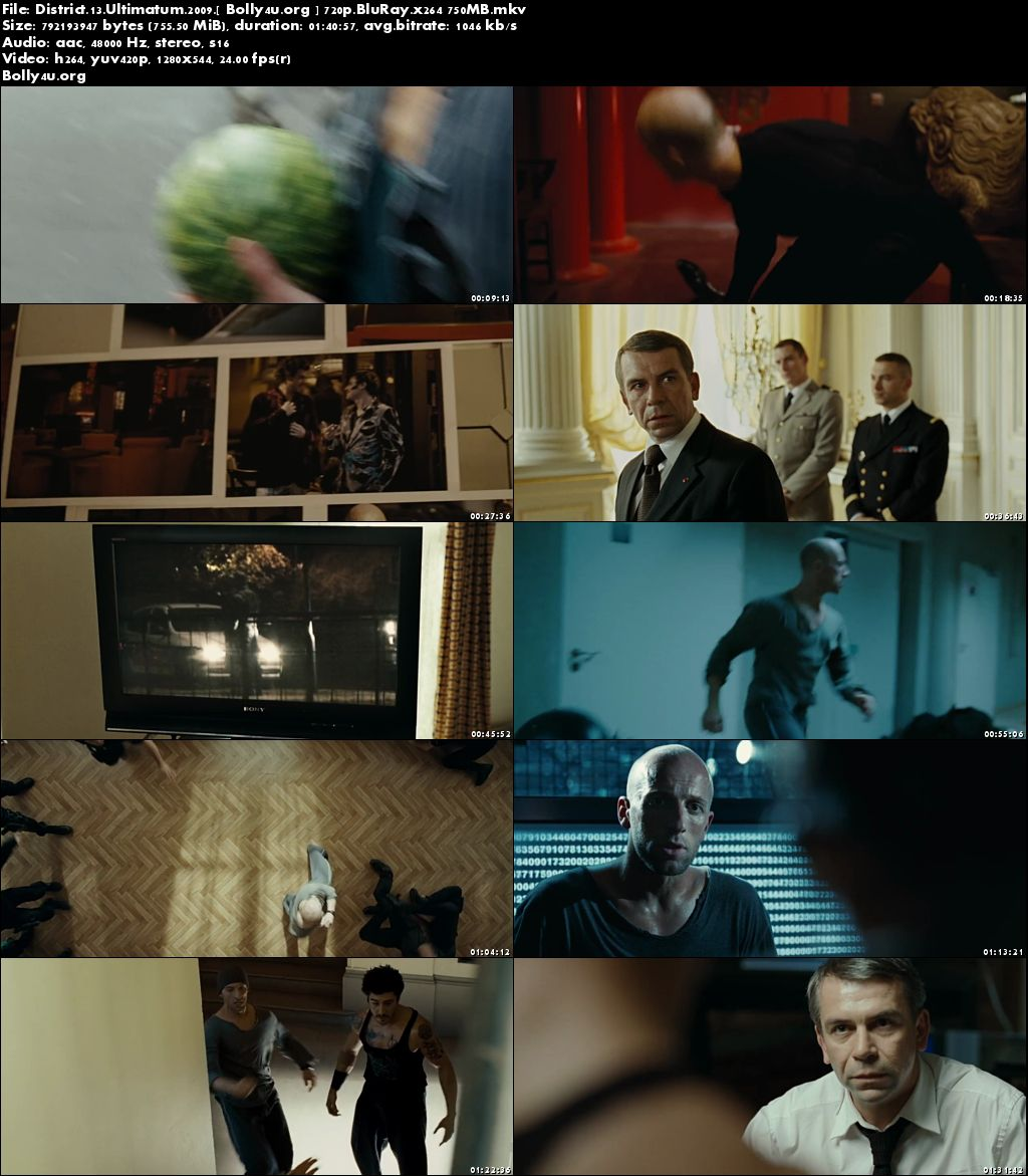 District 13 Ultimatum 2009 BluRay 750Mb English Movie 720p ESub Download