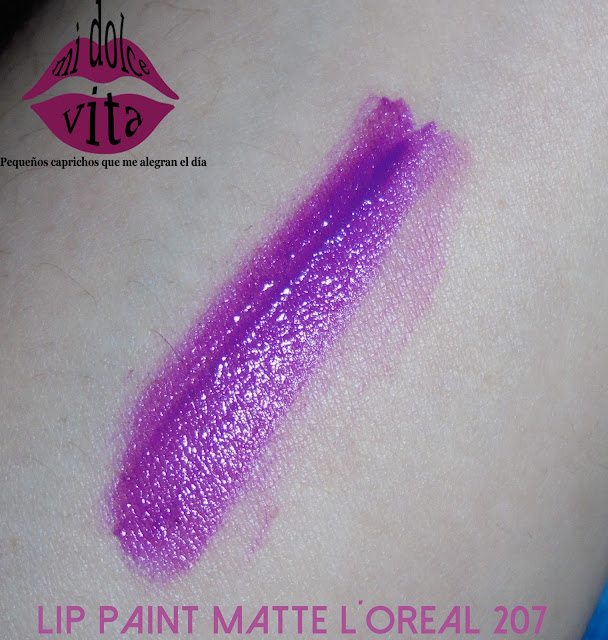 LIP PAINT MATTE LOREAL 207 SWATCHES