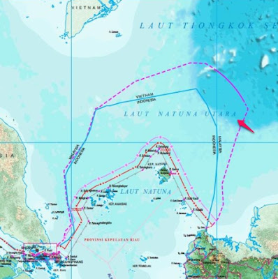 Laut Natuna dan Laut Natuna Utara dan Laut Tionkok Selatan