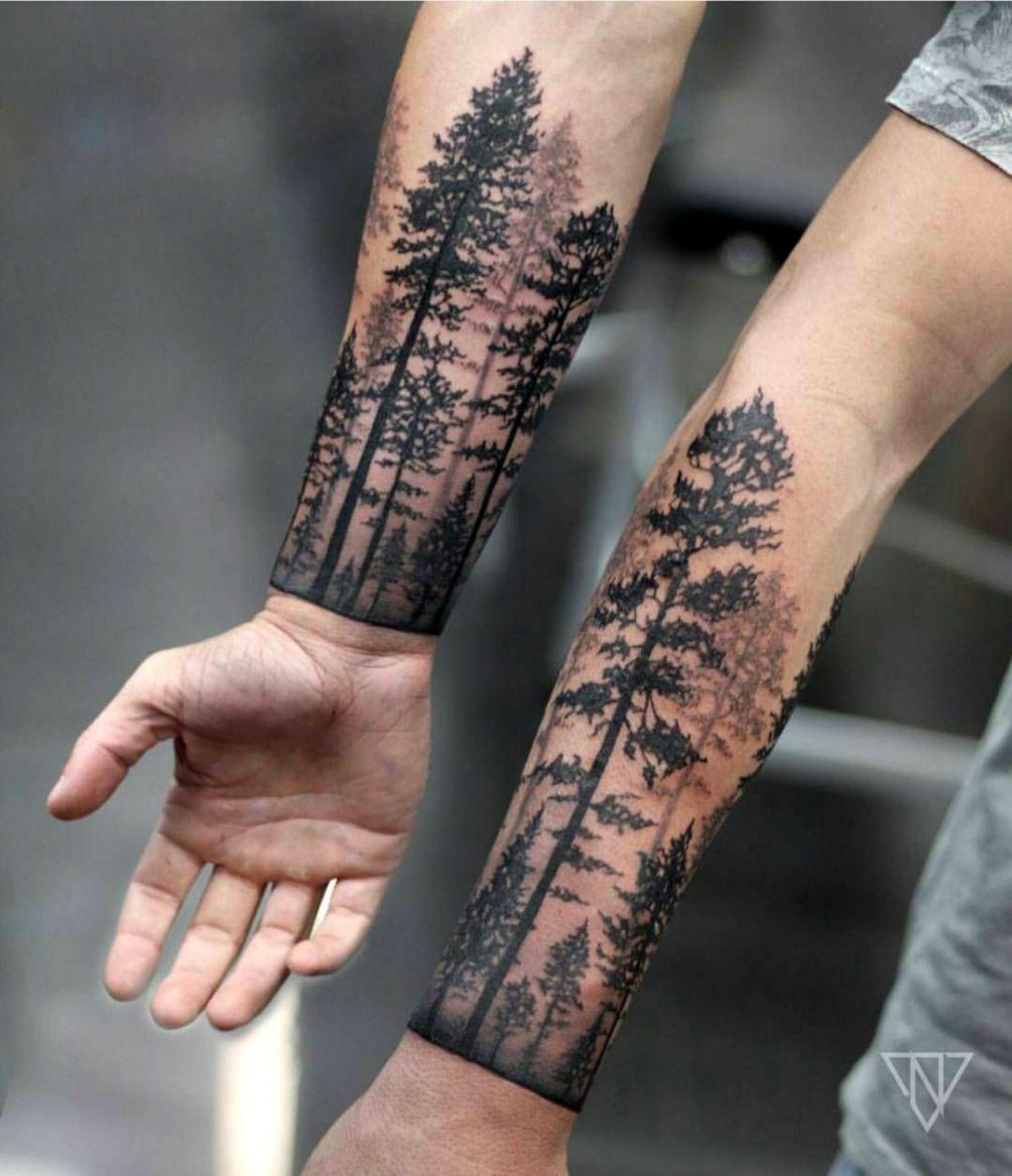 46edf2e8c 51 Stylish Tree Tattoos On Arm for Men Tattoos All