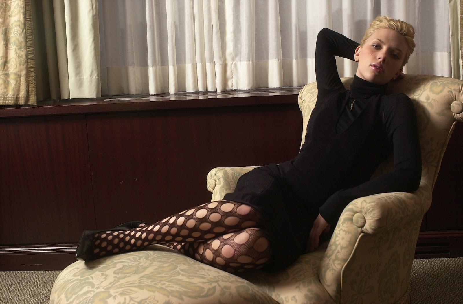 from Anders scarlett johansson in stockings