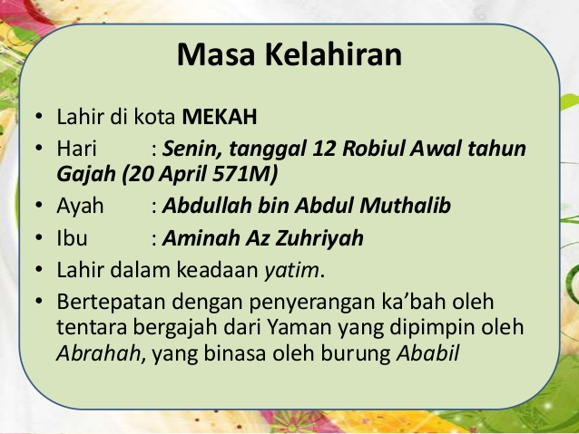 Hari Ini 20 April 2017 Nabi Muhammad Lahir Tepat 1 446 Tahun Silam
