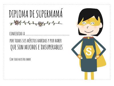 Diploma de super mamá