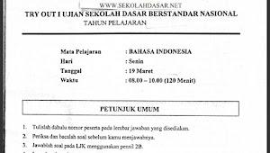 Soal Try Out I Bahasa Indonesia USBN SD dan Kunci Jawabannya