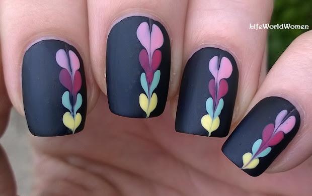 life world women matte black nail