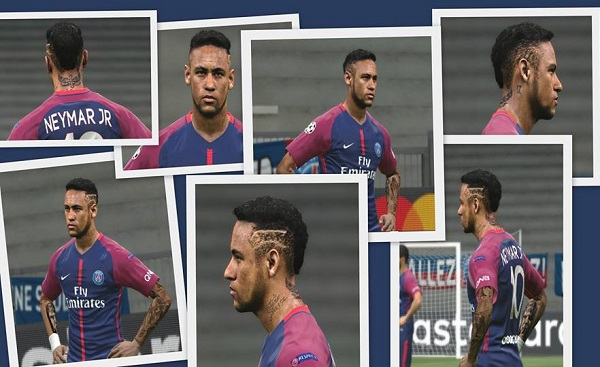 Update PES 2018 Neymar Jr Face with Tattoo