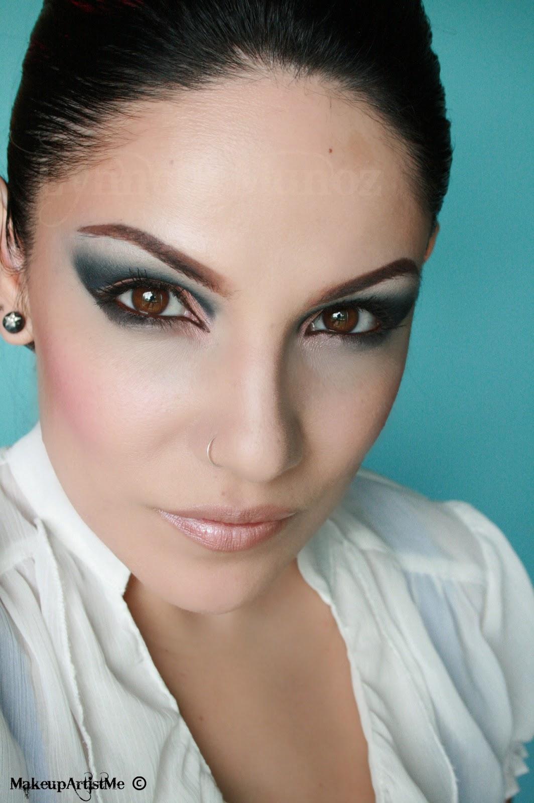 """Makeup Artist Corina Ciobanu: Make-up Artist Me!: """"Blue In The Nude"""" Makeup Look"""