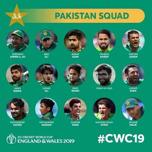 Pakistan's Squad For Cricket World Cup 2019