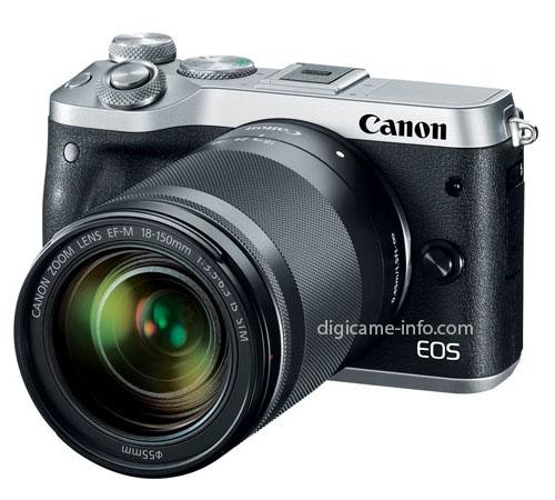 Canon EOS M6, серебристый