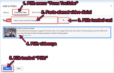Cara Termudah Menyisipkan Video Youtube Ke Blog