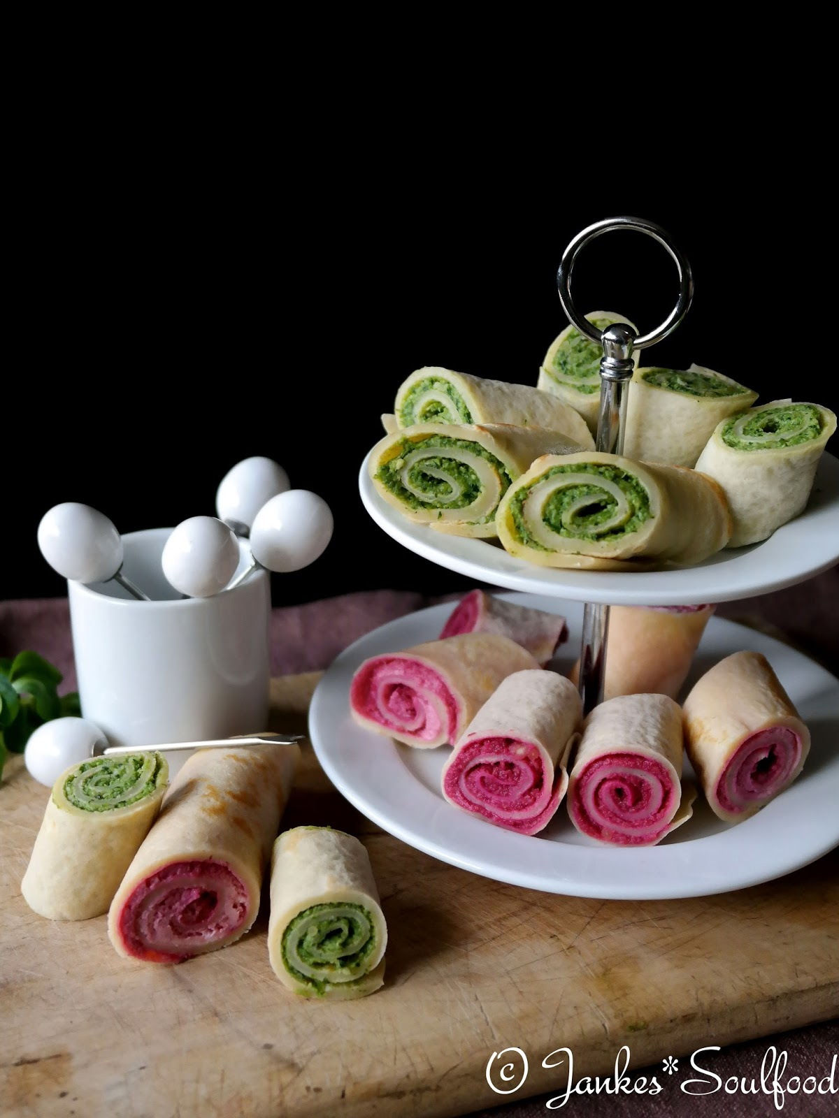 Fingerfood-Pesto-Crepes