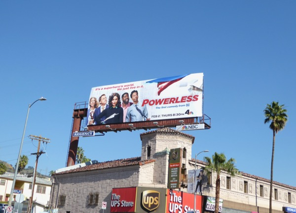Powerless NBC series billboard