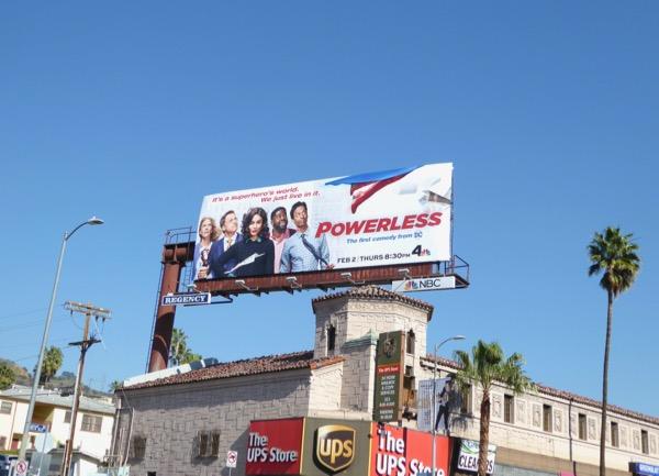 Powerless NBC series billboard