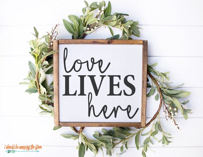 Love Lives Here Sign