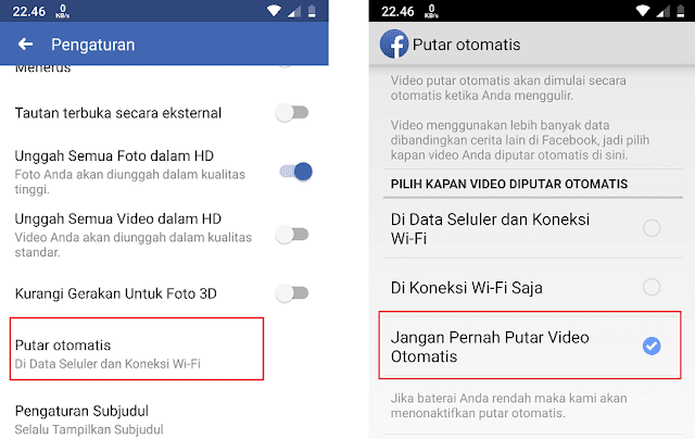 Cara Mematikan Video Otomasi Facebook di Android