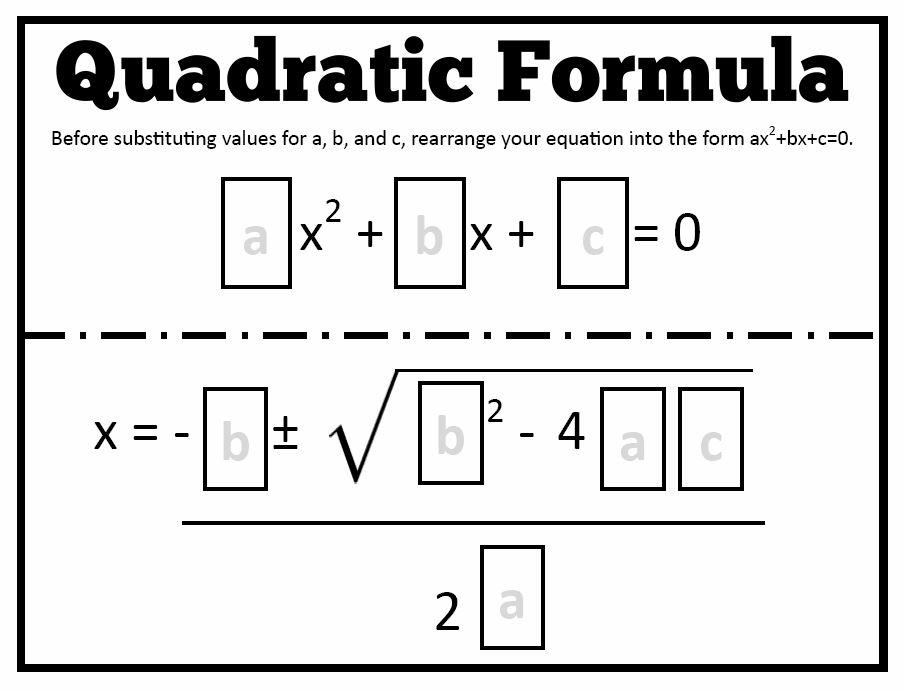 math love quadratic formula templates. Black Bedroom Furniture Sets. Home Design Ideas
