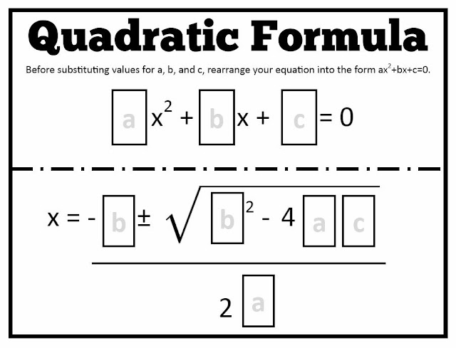 Math = Love: Quadratic Formula Templates  Math = Love: Qu...