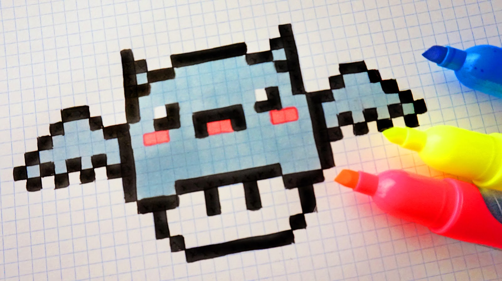 Handmade Pixel Art How To Draw Kawaii Bat Mushroom