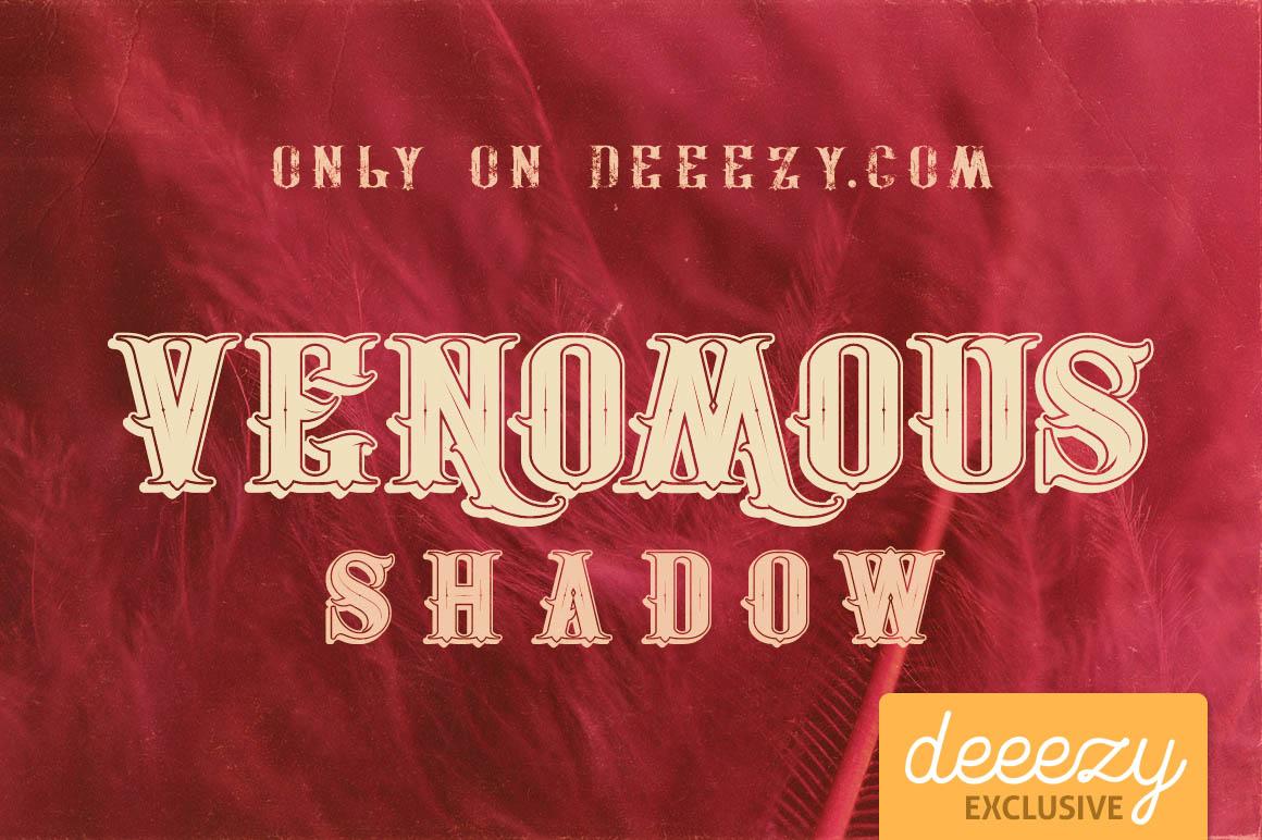 Font Edisi September - Venomous Shadow Font