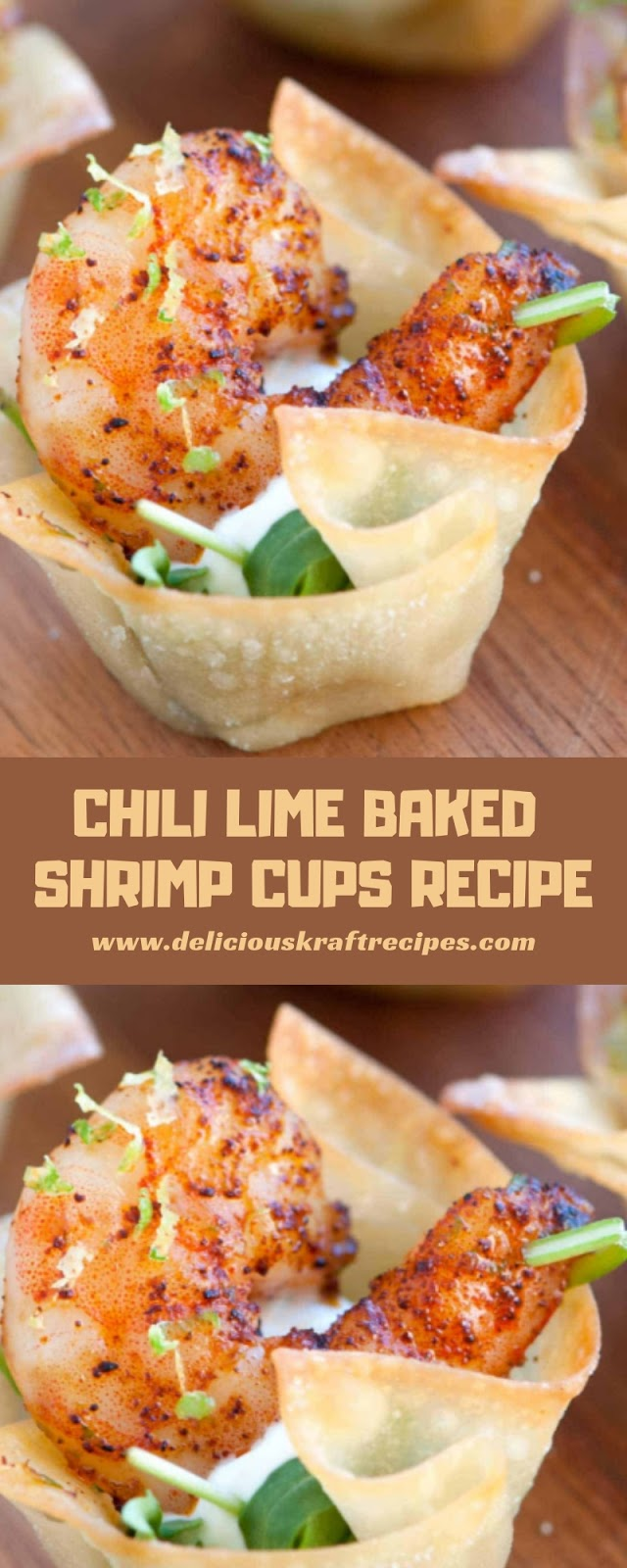 CHILI LIME BAKED SHRIMP CUPS RECIPE
