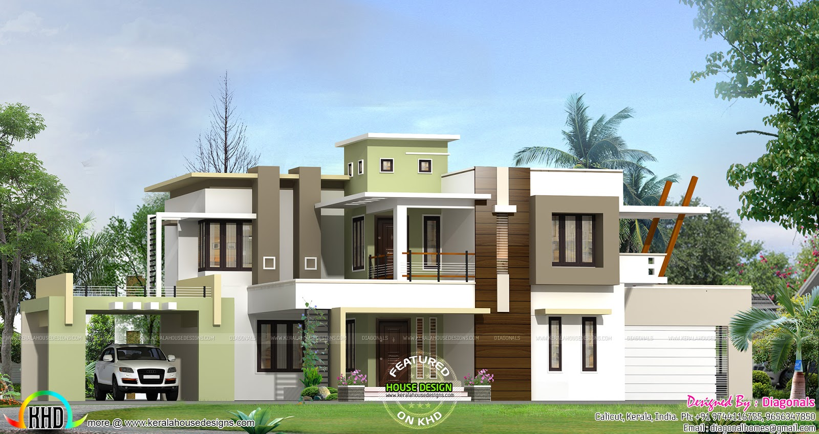 2802 sq ft box type home kerala home design and floor plans for Type of floors in houses