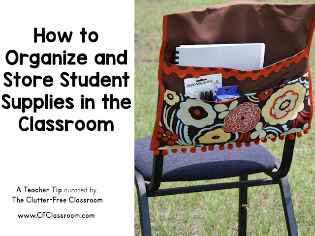 Are you using tables or flexible seating in your classroom and wondering how or where to store the students' supplies? This blog post from The Clutter-Free Classroom will explain how to store books, pencils, journals and more.